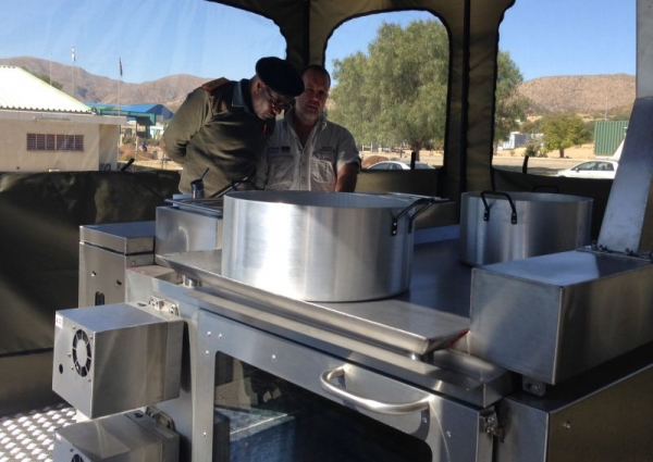 BOMA 250+ man Diesel Fired Mobile Field Kitchen